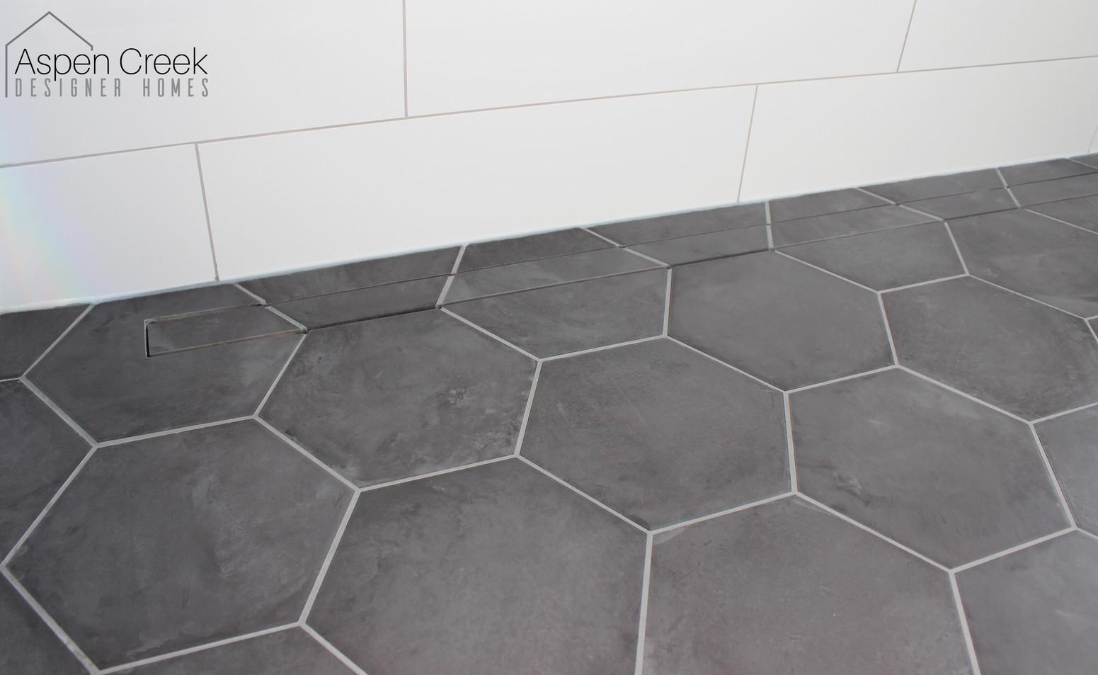Hexagon Floor Shower Tile