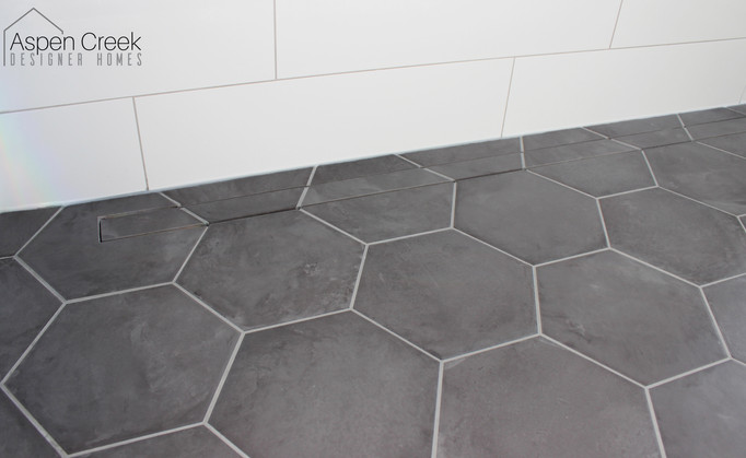 Hexagon Floor Shower Tile