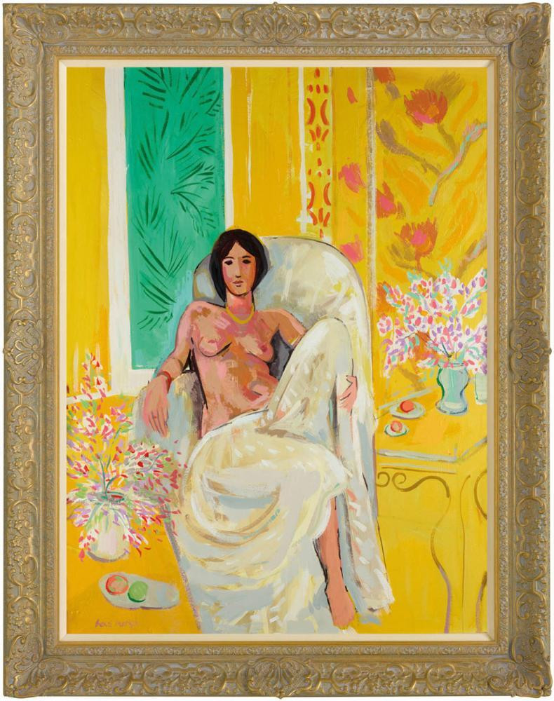 Matisse's Yellow Odalisque by John Myatt