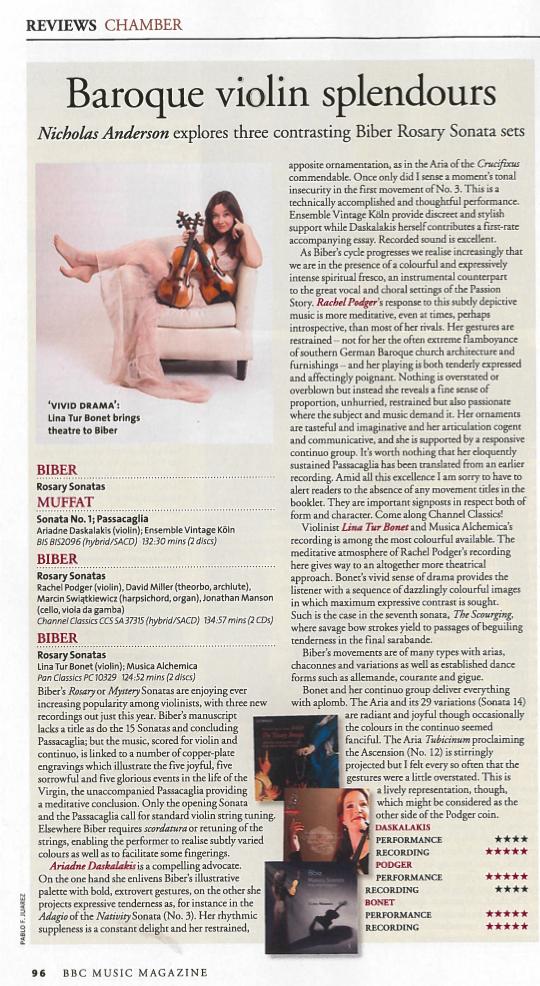 BBC MUsic Magazine Biber