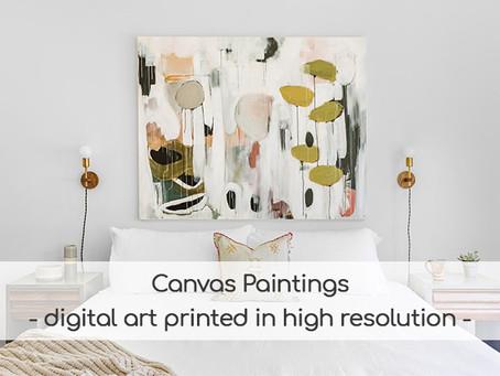 Canvas paintings - Digital art printed in high resolution