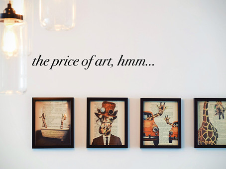 The jump from your studio into the real world: How to price your artwork?