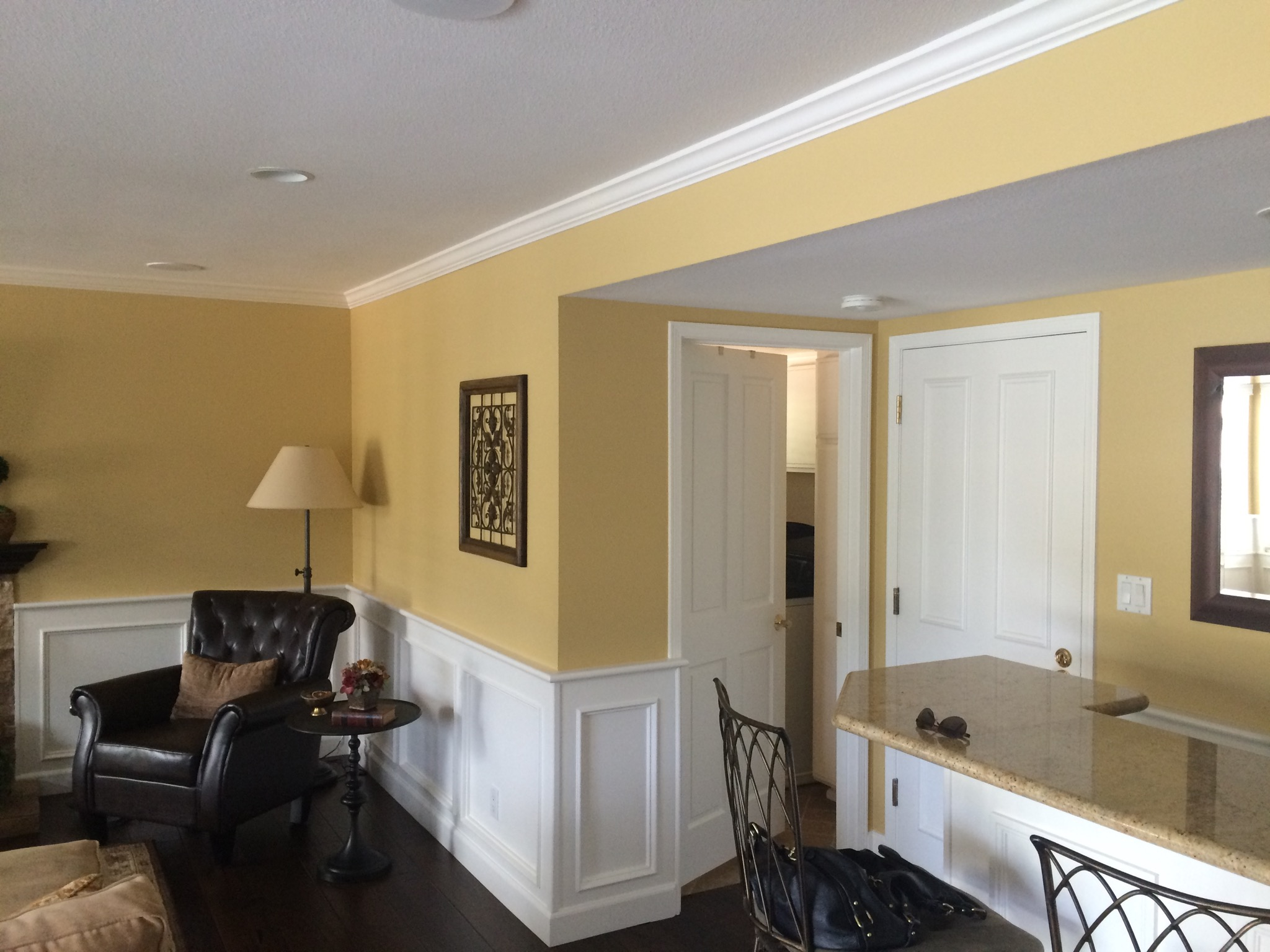 Interior moulding and paint.