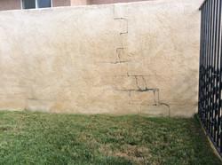Wall repair - Before...