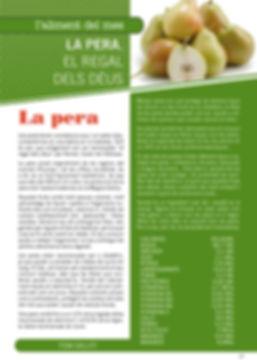 Navegant per Cambrils, Fruita, Revista de Cambrils, Alimentació,Verdura, Fruita, pera, nutrició, valors nutricionals, salut