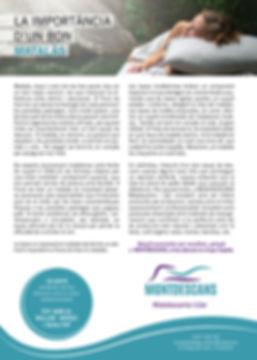 Navegant per Cambrils - Revista de Cambrils - Article del Mes - Cambrls - reportatge - article - descans - matalàs - son - montdescans