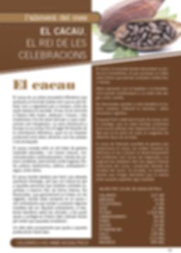 Navegant per Cambrils - Revista de Cambrils - Aliment del Mes - Salut - fruita - verdura - aliment - cacao - xocolata - ingredient - valor nutricional - nutrició