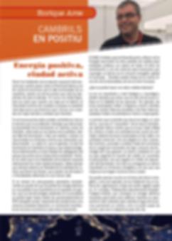 Cambrils en Positiu, Enrique Arce, Cambrils, ciudad activa, energía positiva, energía, luz