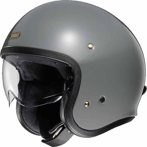 Shoei J.O. Openface Helmets Rat Grey