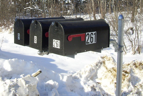 MailSwing with Three Box Spreader - No Post, No Mailboxes