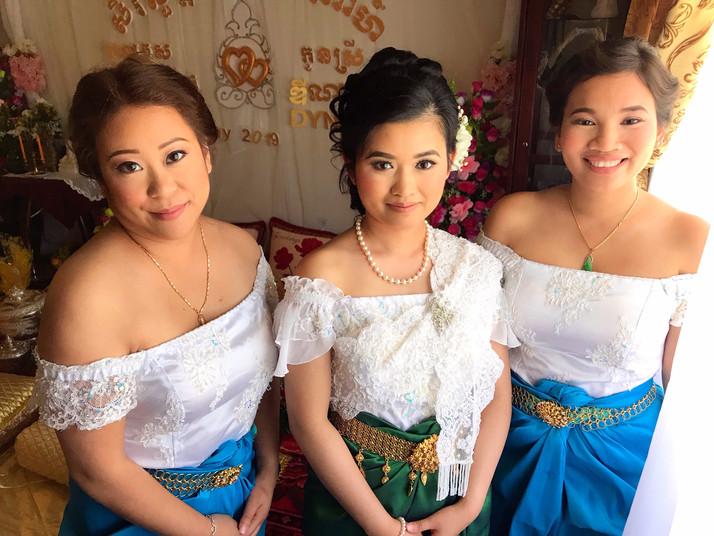 Cambodian Bride & Her Bridesmaids