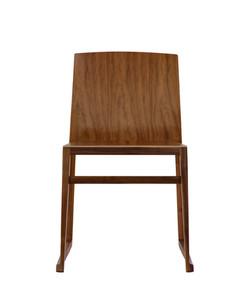 Hanna Sled Chair in walnut