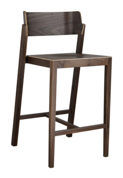 The 100 Counter Stool in walnut