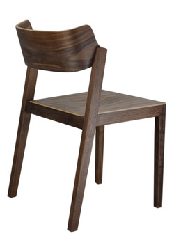 The 100 Chair in walnut