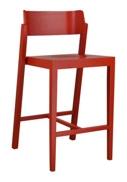 The 100 Counter Stool in red
