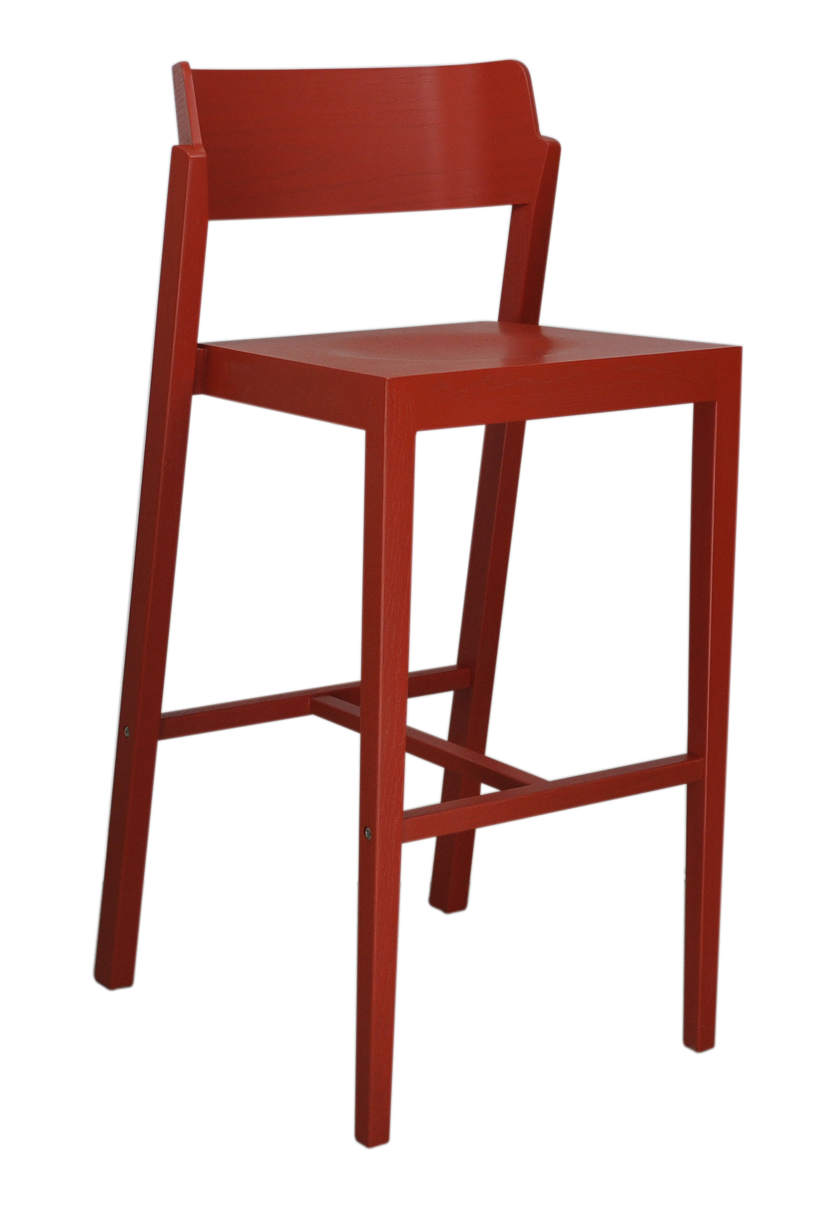 The 100 Bar Stool in red