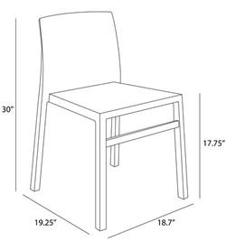 Hanna Chair dimensions