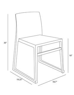 Hanna Sled Chair dimensions