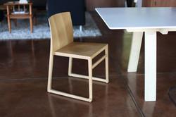 Hanna Sled Chair in oak