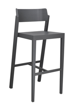 The 100 Bar Stool in grey