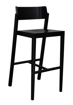 The 100 Bar Stool in black