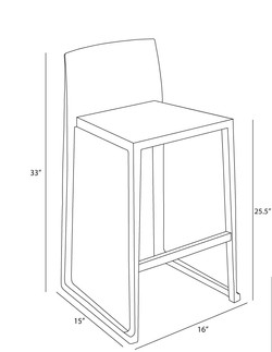 Hanna Counter Stool dimensions