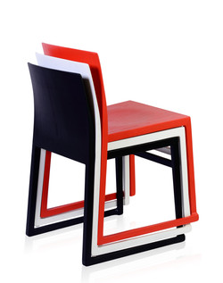Hanna Sled Chairs, stacked
