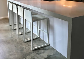 Hanna Counter Stools in white