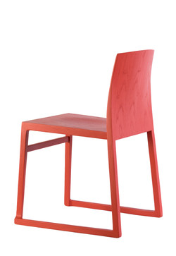 Hanna Sled Chair in red