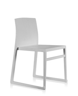 Hanna Sled Chair in white