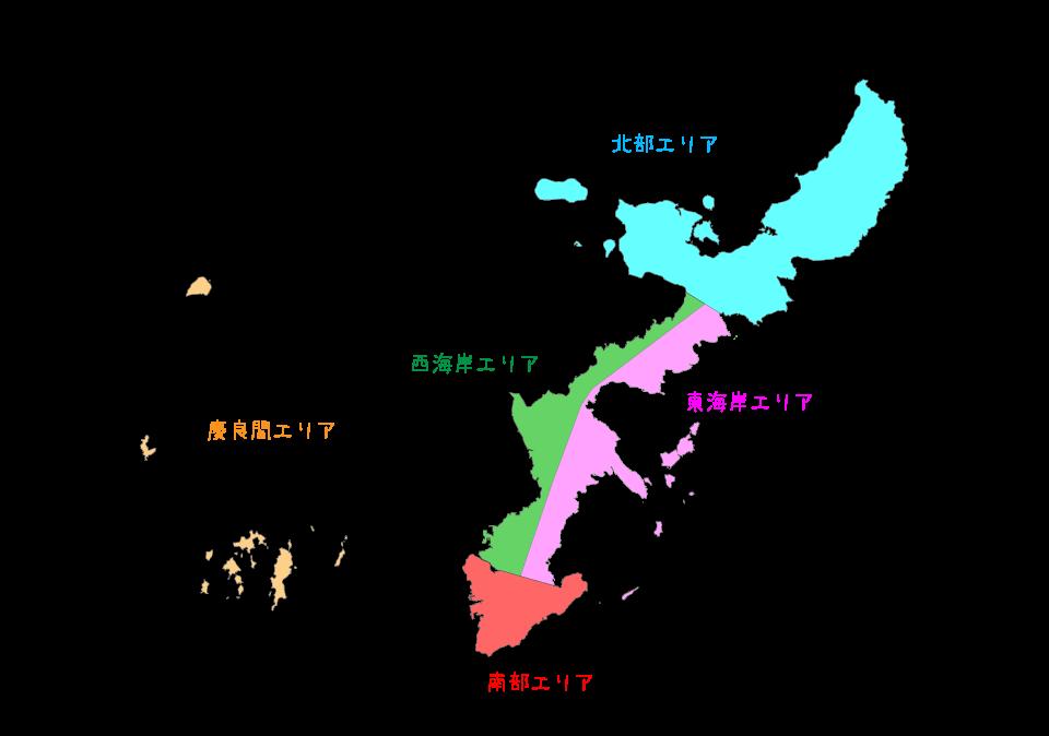 沖縄ダイビングマップ