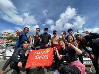 楽しいダイビングDAY!!近海ボートが続きますが、みんなで楽しくわいわいとっ♪