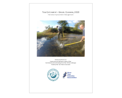 TAW Gravel Cleaning Report 2019