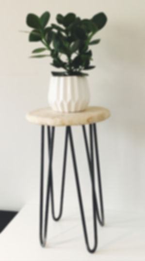 plywood hairpin stool highbury