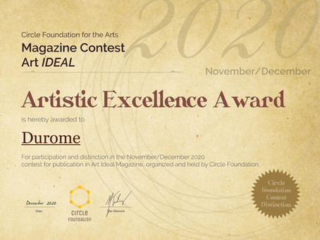 Artistic Excellence Award for DUROME