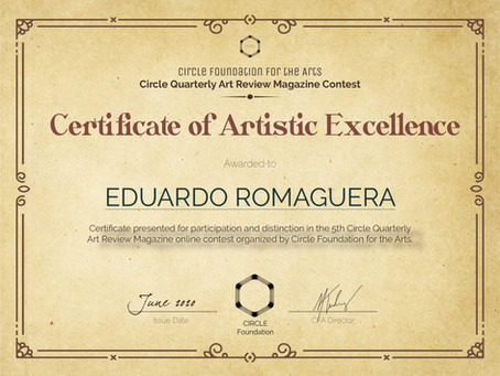 El círculo fundación de las artes en Lyon Francia vuelve a reconocer con excelencia a E.Romaguera.