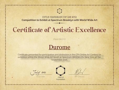 Durome E.Romaguera en Spectrum Brooklyn con Círculo Fundación de las artes. New York Julio 2021.