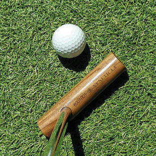 Baston bastone da passeggio in legno e rame, putter golf
