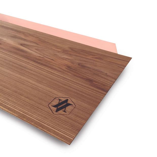 Tajer tagliere e vassoio minimale in legno massello e rame