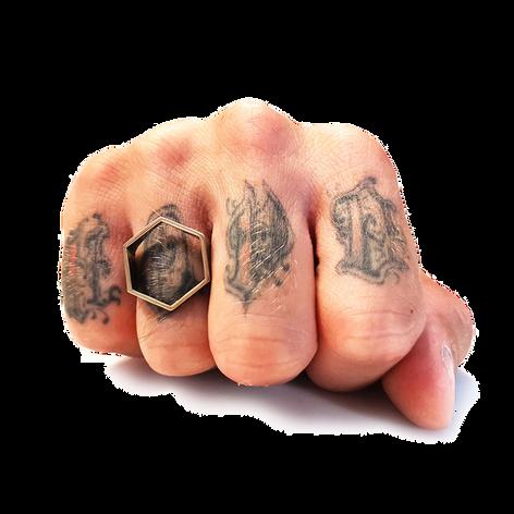 Hexa anello sacro esagono in stampa  3d