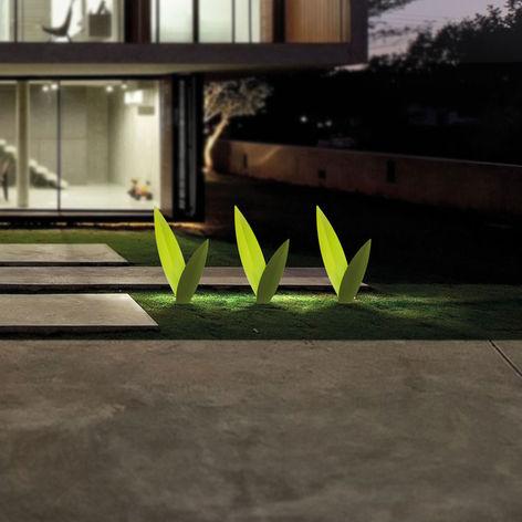 Erba lampada da giardino a led minimale elegante e di design