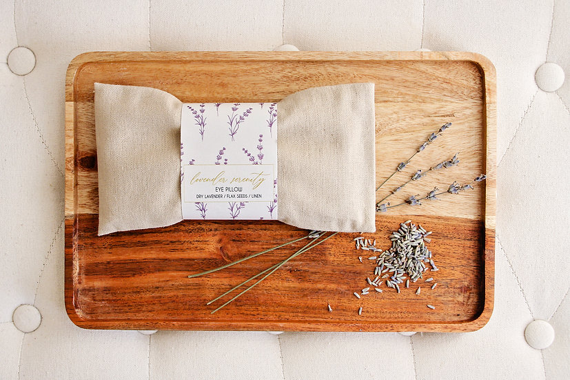 Aроматерапевтична възглавница за очи с уханна Лавандула.
