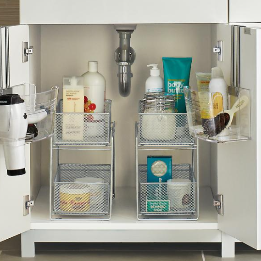 Bathroom storage by The Container Store