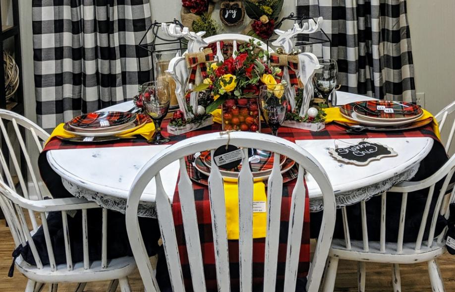 Farmhouse Distressed Dining Set