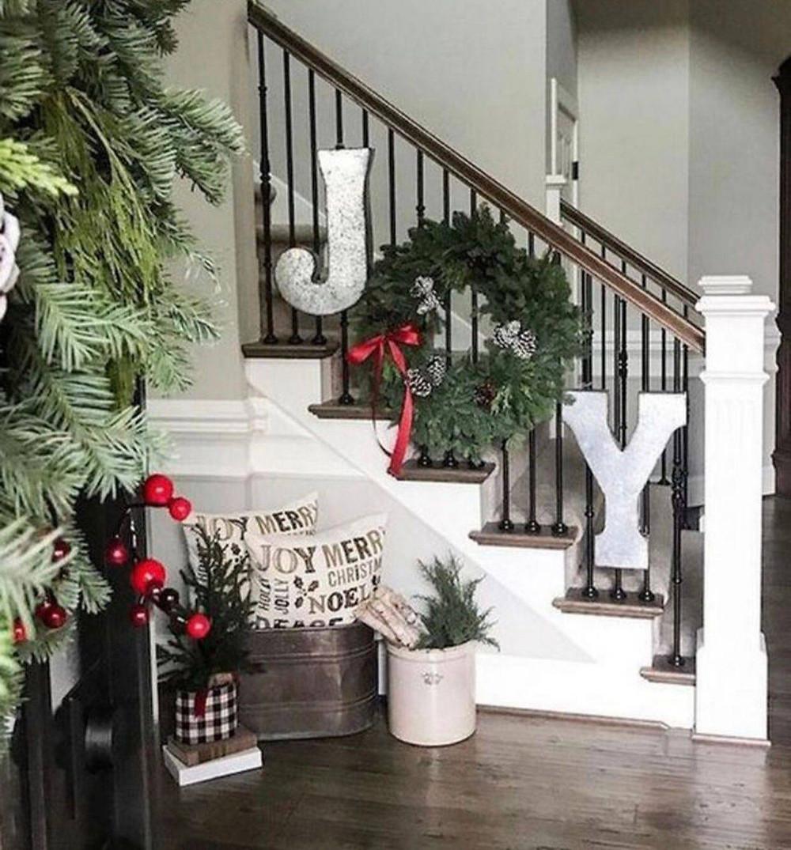 Farmhouse style Christmas decor
