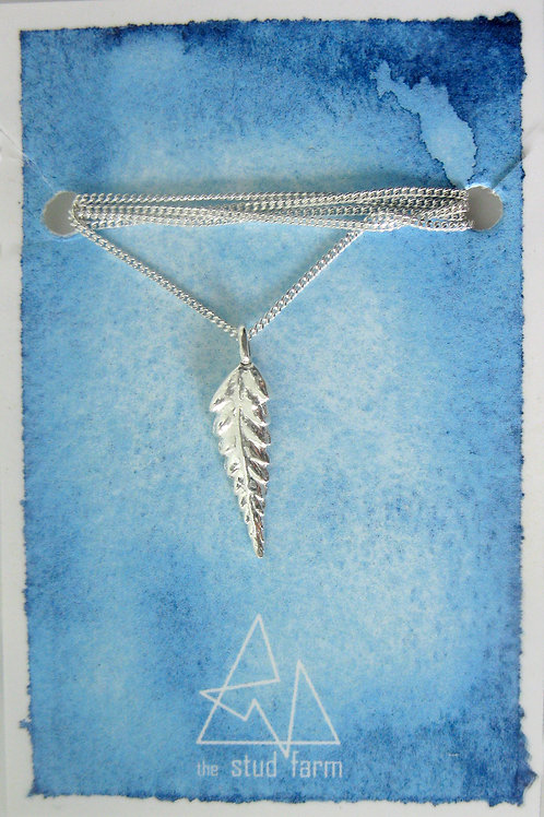 w silver fern pendant
