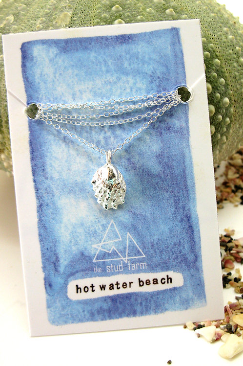 w hot water beach limpet pendant