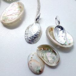 paua pendant with shells
