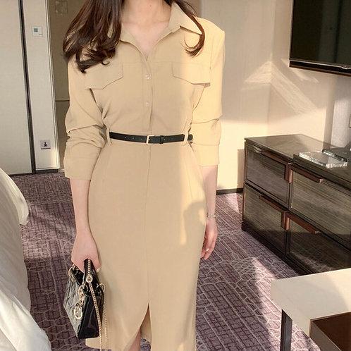 ボタンシャツドレス