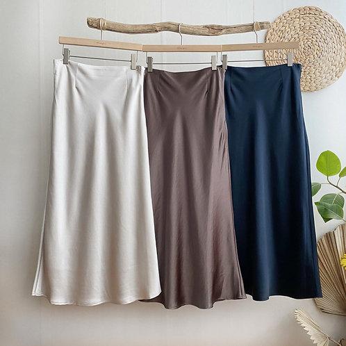 Feminine Satin Skirt